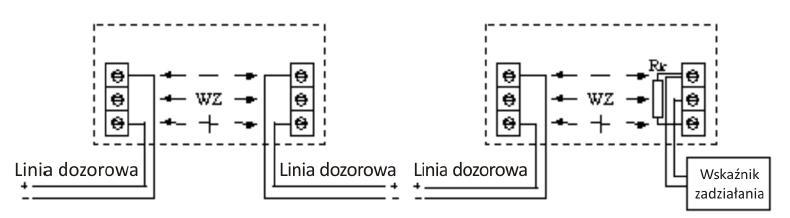 Włączenie czujki w linię dozorową