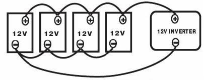 Inwerter ATINV600 schemat podłączenia równoległego