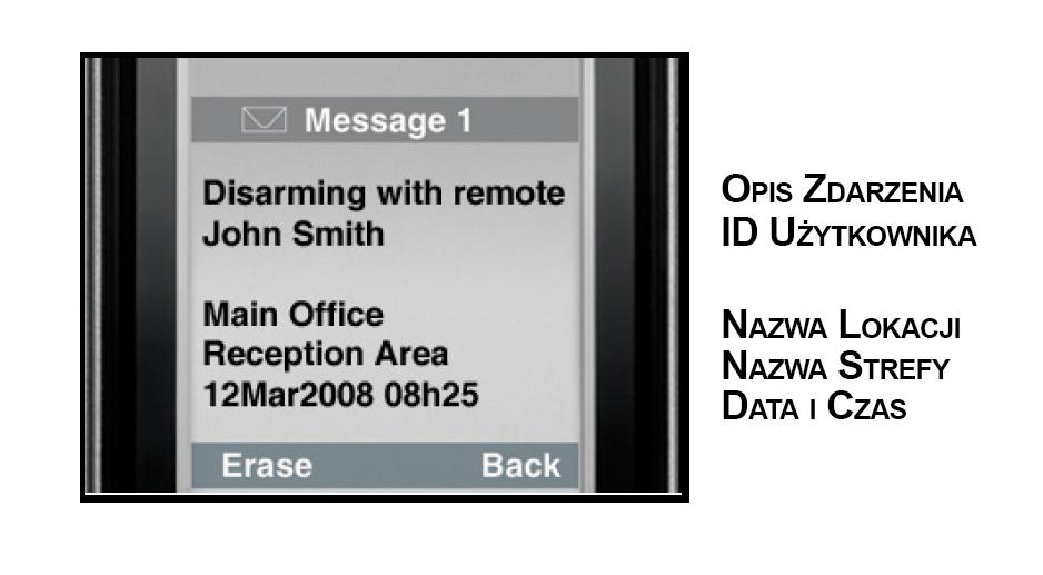 Powiadomienie SMS w module komunikacji GSM/GPRS PCS250 Paradox