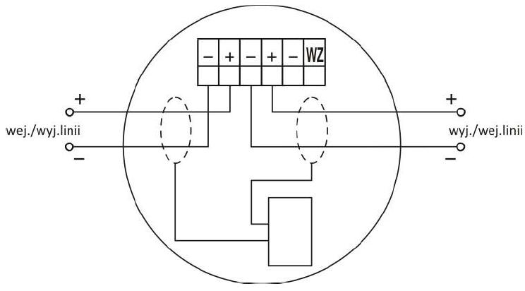 Zacisk gniazda współpracującego z wtykiem czujki DIO-4043
