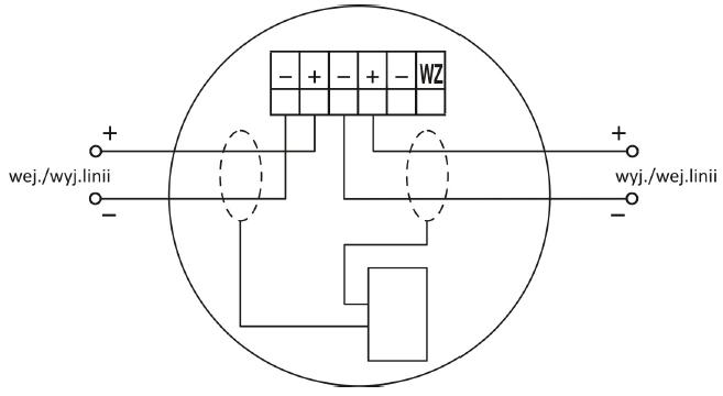 Zacisk gniazda współpracującego z wtykiem czujki TUN-4046