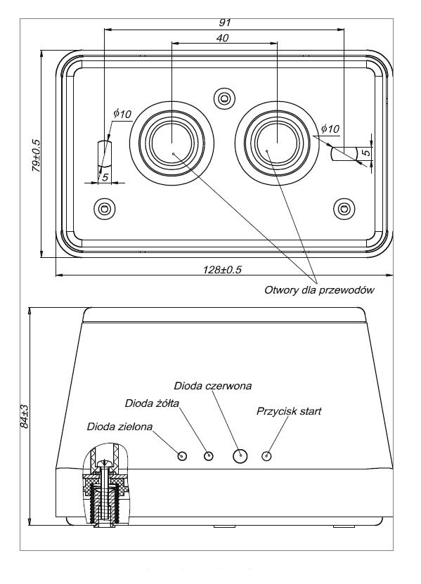 Konstrukcja i wymiary DOP-6001R