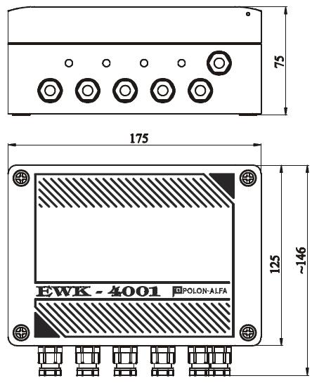 Konstrukcja i wymiary EWK-4001