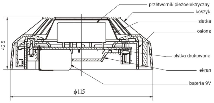 Konstrukcja i wymiary sygnalizatora SAL-4001