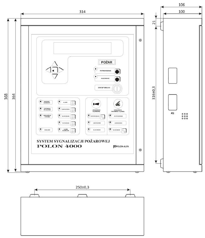 Wymiary terminala TSR-4000SP