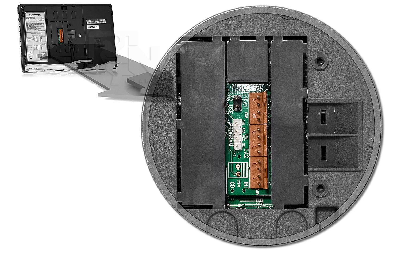 Gniazda połączeniowe w monitorze commax cdv-70p