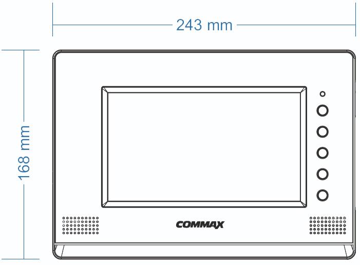Wymiary monitora CAV-70GA COMMAX