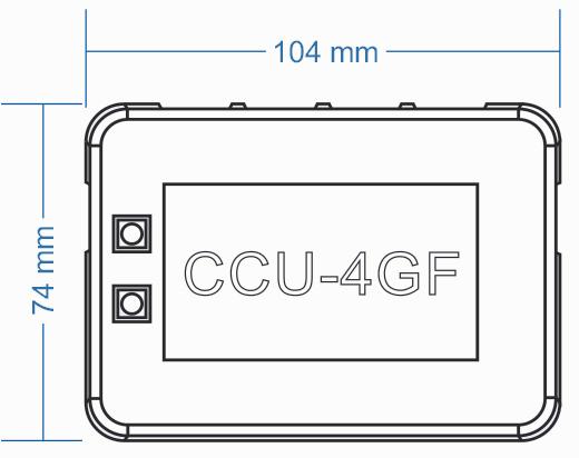 wymiary dystrybutora CCU-4GF COMMAX