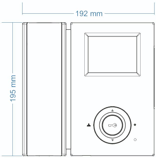 Wymiary monitora CAV-35GN COMMAX